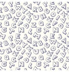 Scribble alphabet seamless pattern vector image