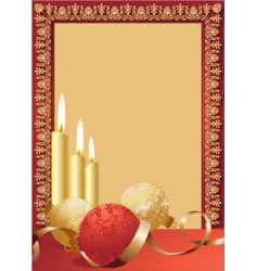 scroll candles border vector image