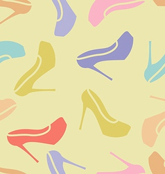woman shoes pattern seamless vector image