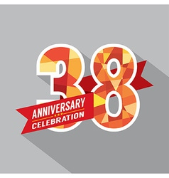 38th Years Anniversary Celebration Design vector image vector image