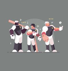 baseball team of players vector image