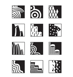 Different building surfaces vector image vector image