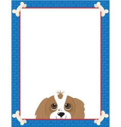Dog bone frame vector image