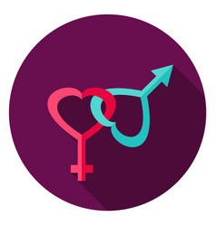 gender circle icon vector image