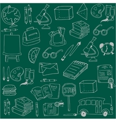 Hand draw school education doodles vector image vector image