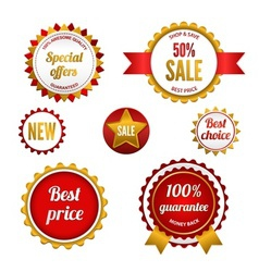 Set of sale badges labels and stickers vector image