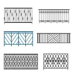 Steel Balcony Rails vector image