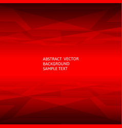 Abstract red geometric polygonal background with vector