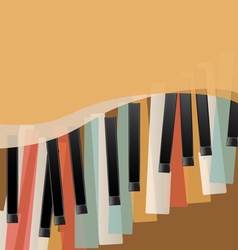 piano keys retro vector image vector image