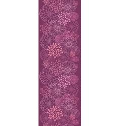 Purple field flowers vertical seamless pattern vector image