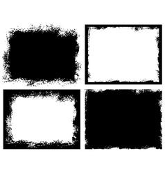 Set of grunge background broken dirty rough vector