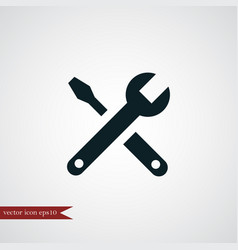 wrench icon simple vector image