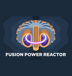 A colorful model a fusion power vector