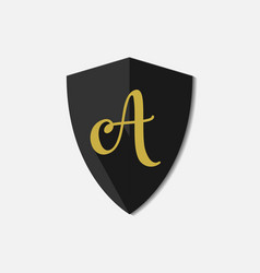 A letter logo template design vector