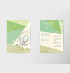 Abstract Brochure Flyer in A4 design vector image