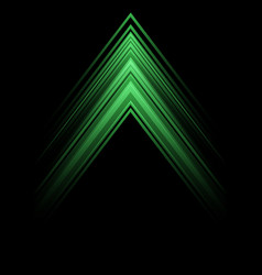 abstract green light arrow speed direction on blac vector image