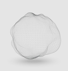 abstract mesh distorted sphere vector image