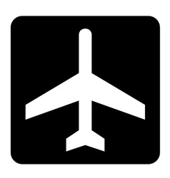 Air Craft Sign vector image