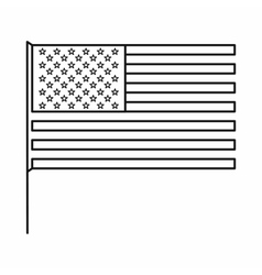 American flag icon outline style vector image vector image