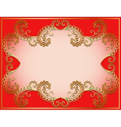 ancient background framed gold vector image