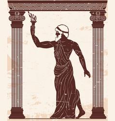 ancient greek hero vector image