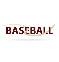 baseball logo with fly ball symbol isolated on vector image