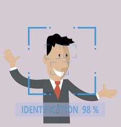 Biometric facial identification vector
