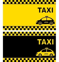 Business card and retro taxi vector