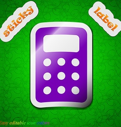 Calculator Bookkeeping icon sign Symbol chic vector