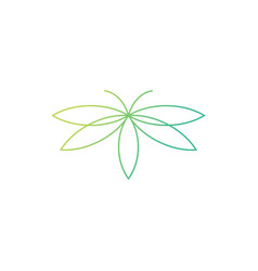 Cannabis butterfly logo icon vector
