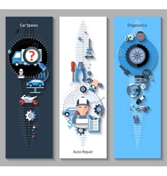 Car Repair Banners Vertical vector image