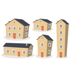 cartoon house set vector image