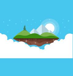 cartoon island landscape vector image