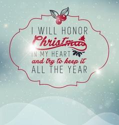 Christmas Greeting Card Design Element vector