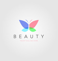 colorful butterfly logo overlay transparent vector image