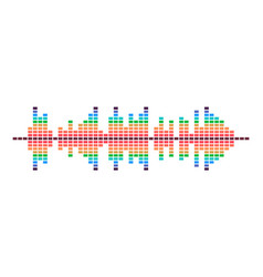 Colorful design dynamic sound wave radio vector
