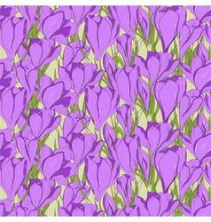 Crocus seamless pattern 1 vector