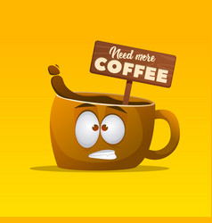 cup of coffee character vector image