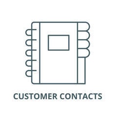 customer contacts line icon linear concept vector image