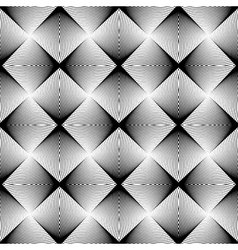 Design seamless uncolored geometric pattern vector image