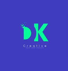 Dk letter logo design with negative space concept vector