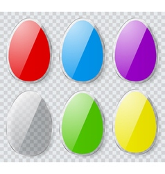 Easter eggs with transparent edges vector image