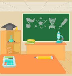 Education classroom concept cartoon style vector