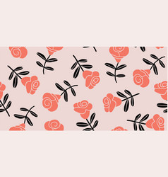 elegant seamless pattern with roses vector image
