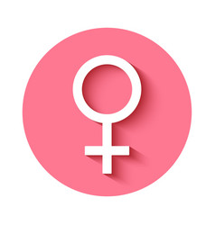 Female gender symbol icon vector