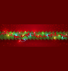 festive christmas or new year garland christmas vector image