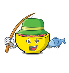 fishing soup union mascot cartoon vector image
