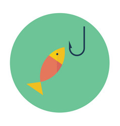 flat icon fishing vector image