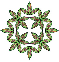 Floral leaves symmetry snake symbol vector