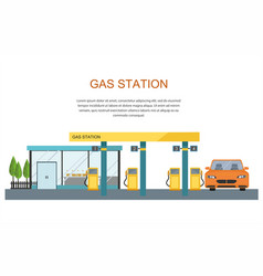 gas filling station energy vector image